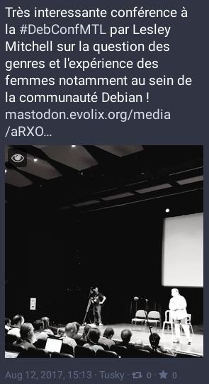 DebConf17: conférence par Lesly Mitchell