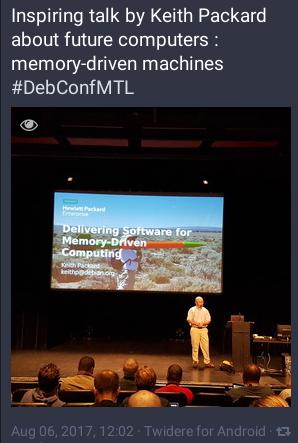 DebConf17 conférence de Keith Packard Memory-driven computing 060817